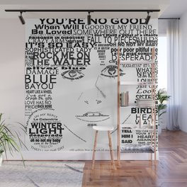 "Linda Ronstadt ""Song Titles"" Word Art Wall Mural"
