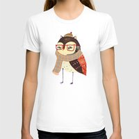 owl T-shirts featuring  Owl by Ashley Percival illustration