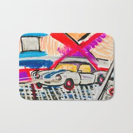 British Triumph Spitfire circa.1965 (Abstract#2) Bath Mat