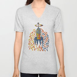Self-firing rocket Unisex V-Neck