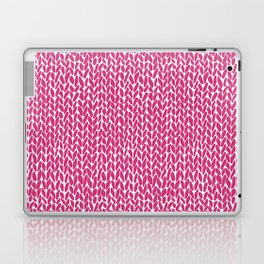 Hand Knit Hot Pink Laptop & iPad Skin