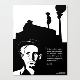 Pro-labor Quote (Joe Hill) Canvas Print