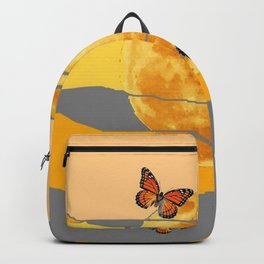 MOON & MONARCH BUTTERFLIES DESERT SKY ABSTRACT ART Backpack
