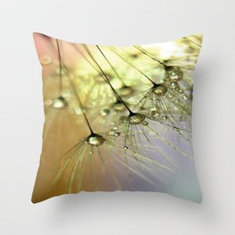 Dandelion & Droplets Throw Pillow