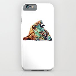 Leon And The Little Girl | Lion - Painting  iPhone Case