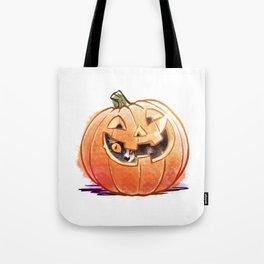 Pumpkin Spice Kitty Tote Bag