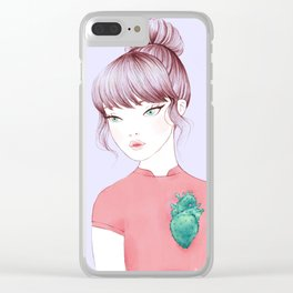 cactus heart i Clear iPhone Case