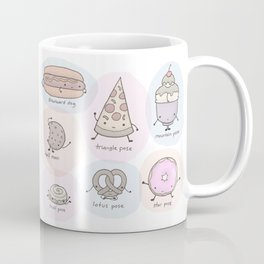 Junk Food as Yoga Poses Coffee Mug