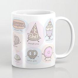 Junk Food as Yoga Poses Coffee Mug
