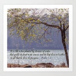 Psalm 1:3 Art Print