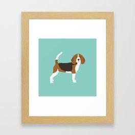 Beagle pillow, phone case beagle design Framed Art Print