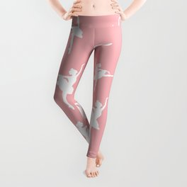 Pink and white Ballerina Leggings