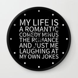 Romantic Comedy (Black) Wall Clock