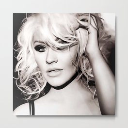 Christina Aguilera - Celebrity Art Metal Print