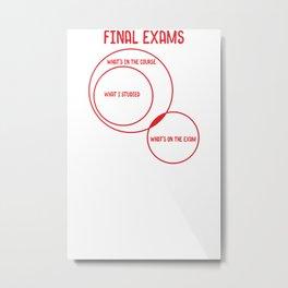 Final Exams Metal Print