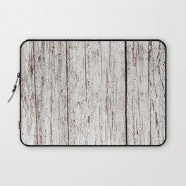 Pale Brown Wood Cottage Chic Rustic Wood Grain Texture Laptop Sleeve
