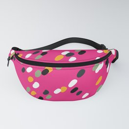 Retro Pink Geometric Spot Pattern Fanny Pack