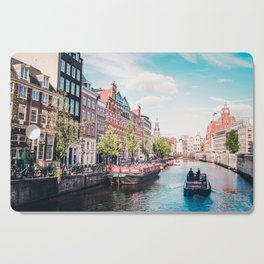 Colorful Amsterdam Canals | Europe Travel City Urban Landscape Photography Cutting Board