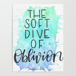 The Soft Dive of Oblivion Poster