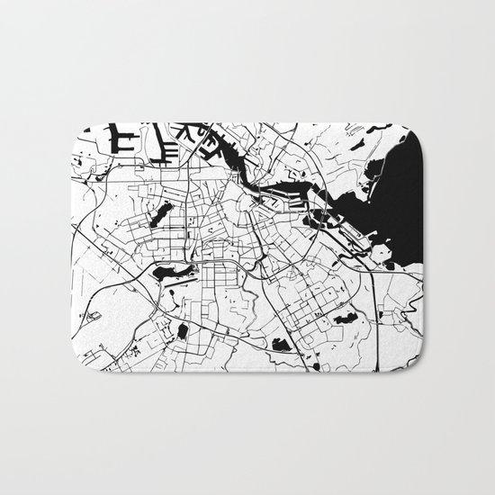 Amsterdam Minimal Map Bath Mat
