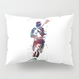 Lacrosse player art 2 Pillow Sham