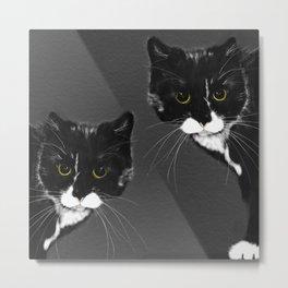 Mottled Cats on Dark Gray Background  #decor #society6 #buyart Metal Print