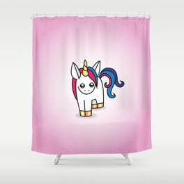 Nova the Unicorn Shower Curtain