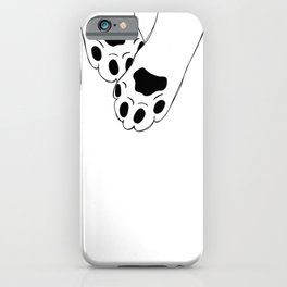 Stretching Cat paws  iPhone Case