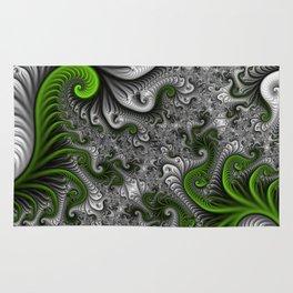 Fantasy World, abstract Fractal Art Rug