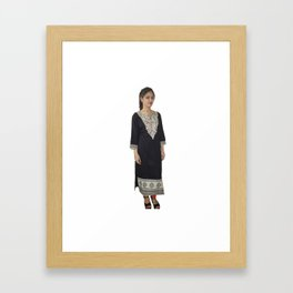 Designer Wear Long Kurtas Framed Art Print