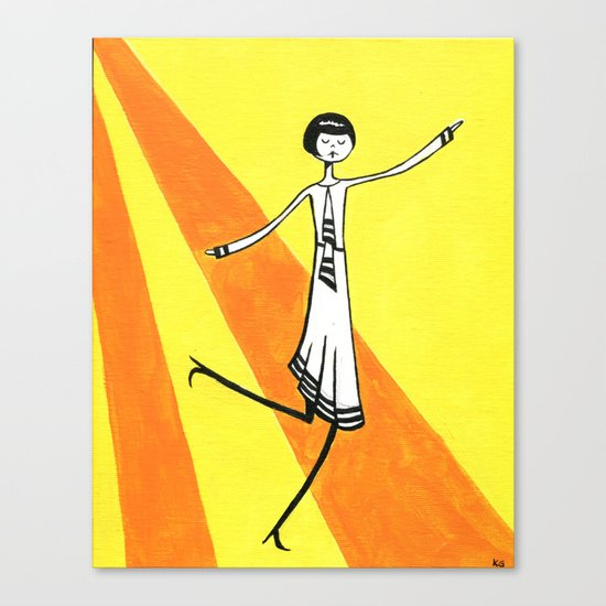 Eloise is walking on sunshine Canvas Print