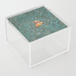 buttons fantasy blue lake Acrylic Box