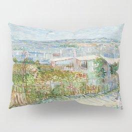 Vegetable Gardens at Montmartre by Vincent van Gogh Pillow Sham