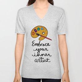 Embrace Your Inner Artist Unisex V-Neck