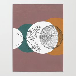 Moon and Lavender Poster