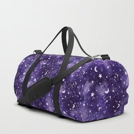 Zodiac Watercolor Ultraviolet Duffle Bag