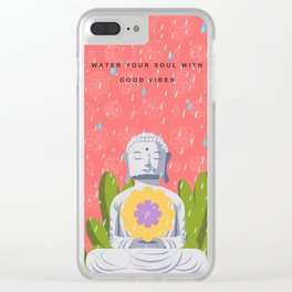 Calm vibes Clear iPhone Case