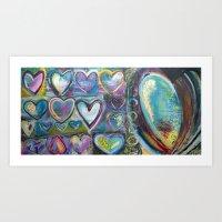 Hearts of Gold Art Print