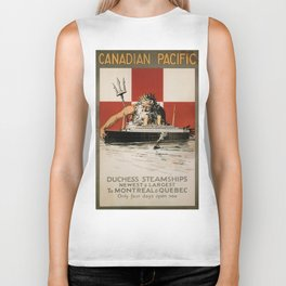 Vintage poster - Canadian Pacific Cruises Biker Tank