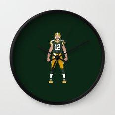 Cheese Head - Aaron Rodgers Wall Clock