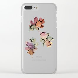 colorful wood Clear iPhone Case