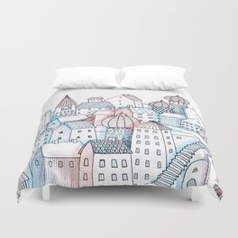 Smalltown Silence Duvet Cover