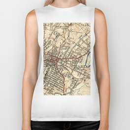 Vintage Map of Charlottesville Virginia (1949) Biker Tank