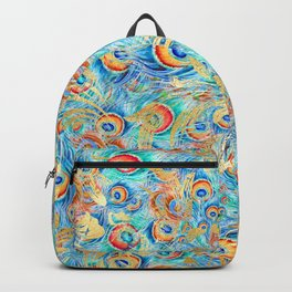 Feather peacock #11 Backpack