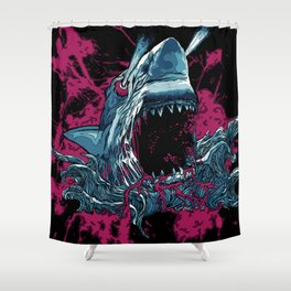 SHARK WITH FRICKIN LAZER BEAMZ Shower Curtain