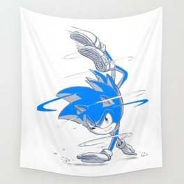 Blue Sonic  Wall Tapestry