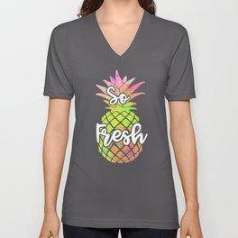 So Fresh T-shirt, Pineapple shirt, Funny Tshirts, Womens Tshirts, Mermaid Shirt, Graphic Tee, Womens Unisex V-Neck