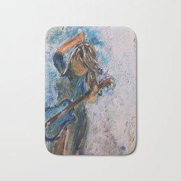 rock and roll goddess Bath Mat
