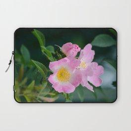 Pink Flower Bush Laptop Sleeve