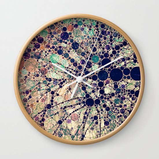 Colorful tree loves you and me. Wall Clock
